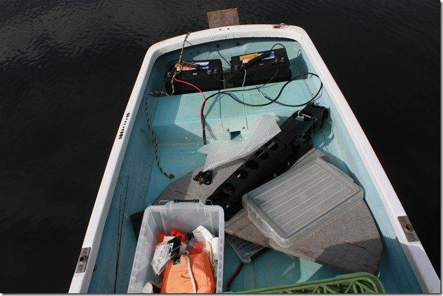 ラダーを付けてないレンタルボート