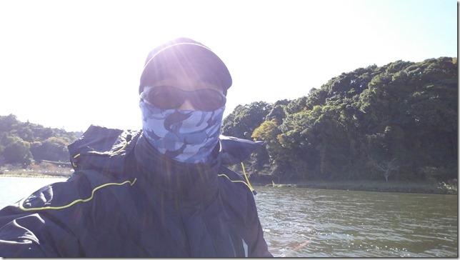 亀山湖強風夕方