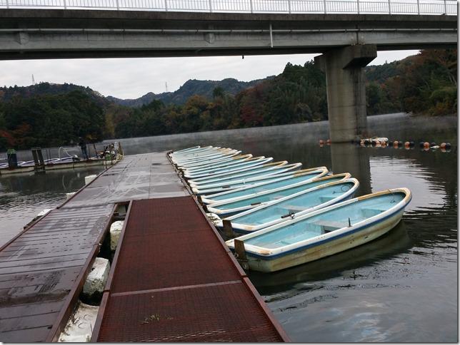 亀山湖松下ボート桟橋霜