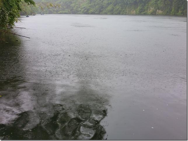 亀山湖大雨