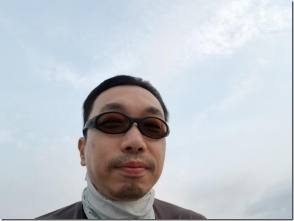 琵琶湖を走る船にて