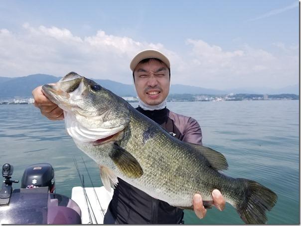 琵琶湖で釣れたビッグバス