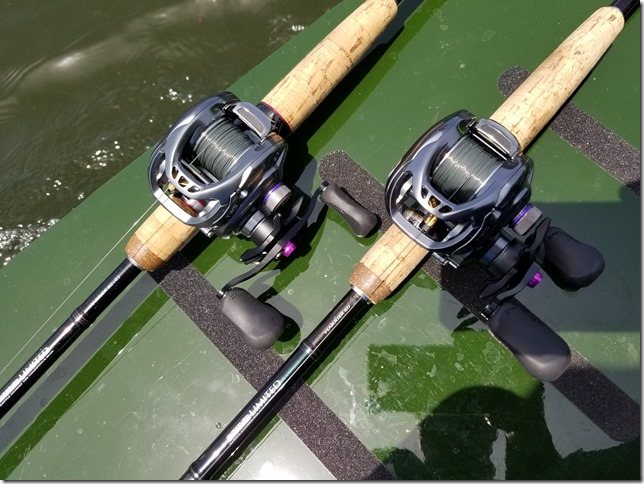 A 30-pound nylon rolled DAIWA Harrier 80 to 17 TATULA SV TW 8.1 L