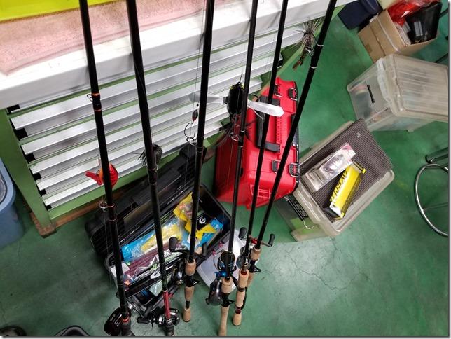 亀山ダム釣行前日のタックル準備