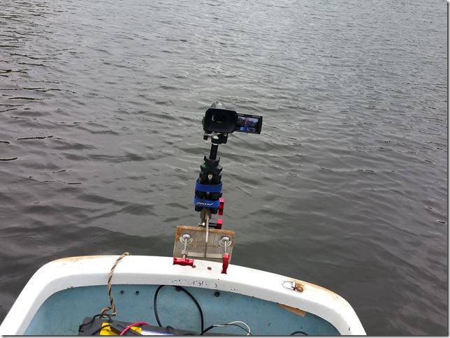 レンタルボートにビデオカメラ