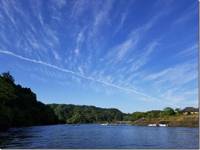 亀山ダムの空