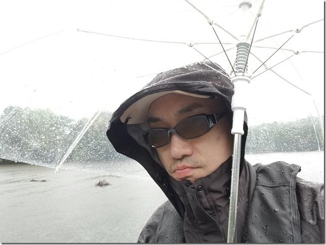 雨の亀山ダム2019年5月
