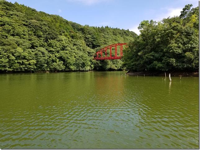 減水時の亀山ダム