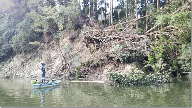 亀山ダム 笹川上流域の崩落