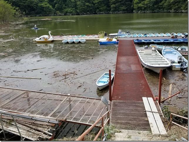 亀山ダムつばきもとボートか桟橋